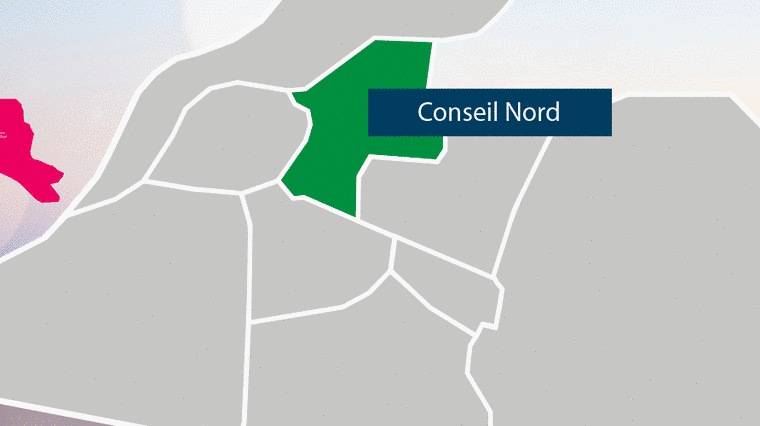 Carte du quartier Nord