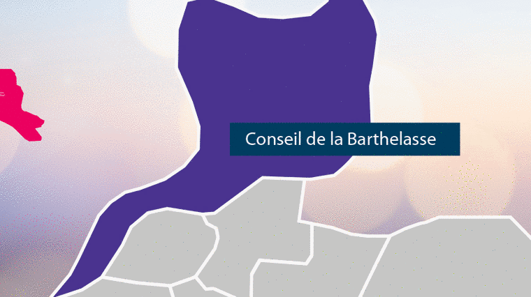 Carte du secteur de la Barthelasse